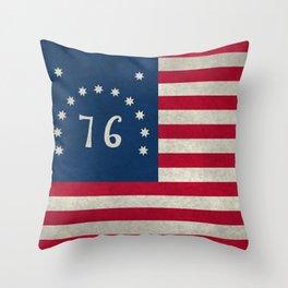 American Bennington flag - Vintage Stone Textured Throw Pillow