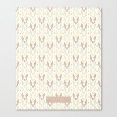 Boston Terrier Wood Pattern Canvas Print