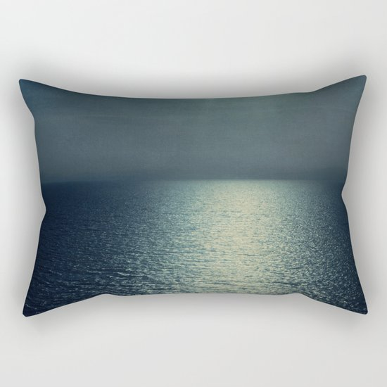 sea - sunset blue Rectangular Pillow
