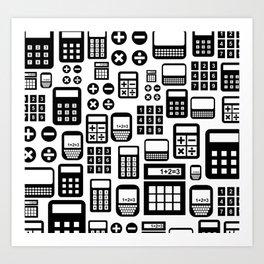 calculators Art Print