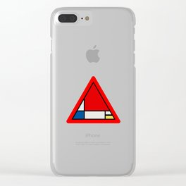 Mondrian Road Sign Clear iPhone Case
