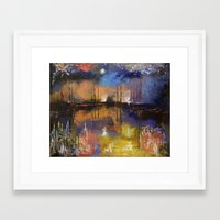 fireworks Framed Art Prints featuring Fireworks by Michael Creese