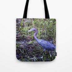 Little Blue Heron Strut Tote Bag
