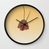 dress Wall Clocks featuring Red Dress by o0fs0o