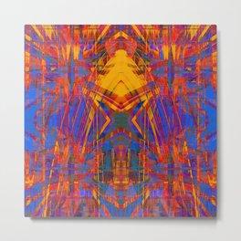 Grunge star pattern Metal Print