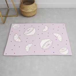 Purple Lemon Pattern Rug