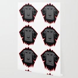 Dark Lion Log Wallpaper