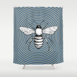 Pop Art  Bee Shower Curtain