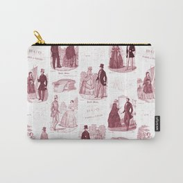 Biedermeier Red Fashion Toile Carry-All Pouch