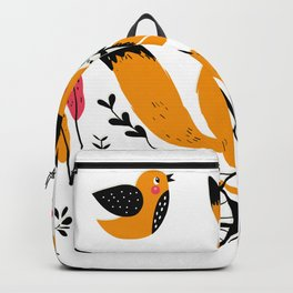 Fancy Mister Foxly Meets A Feathered Friend Backpack