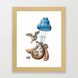 Flying basset Framed Art Print