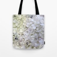 hydrangea Tote Bags featuring Hydrangea by Awesome Palette