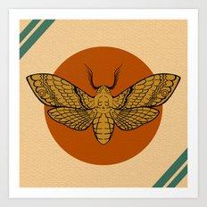 Vintage Death Head Moth Art Print