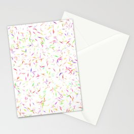 Colorful Sprinkles Abstract Stationery Cards