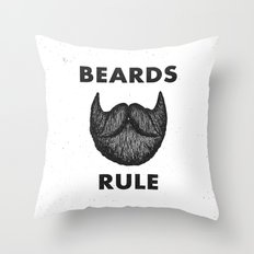 Beards Rule Throw Pillow
