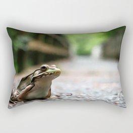 Frog Art One Rectangular Pillow