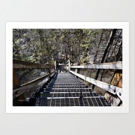 Tahquamenon Stairs Art Print