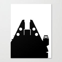 Millennium Falcon - Black Canvas Print