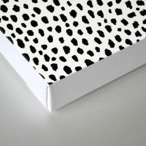 Dalmatian Spots (black/white) Canvas Print