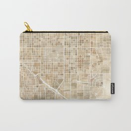 Tucson Arizona watercolor city map Carry-All Pouch