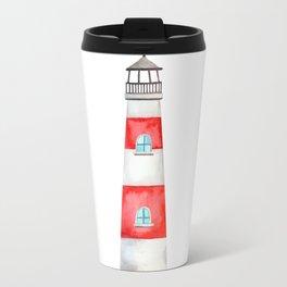 Watercolor Lighthouse Travel Mug