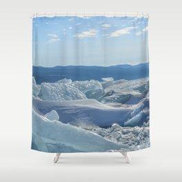 Pressure Ridges of Ice Lake Shower Curtain