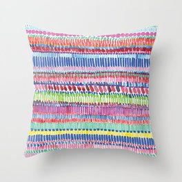 "Rainbow ""Light-Brite"" Throw Pillow"