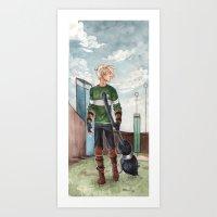 quidditch Art Prints featuring Quidditch by CaptBexx