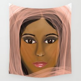 Mysterious Girl Wall Tapestry