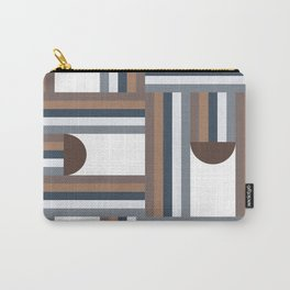 Stripes & Halfmoons Mid Century Modern Pattern Carry-All Pouch