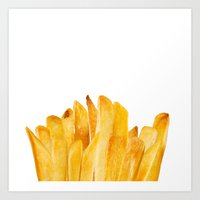 french fries Art Prints featuring french fries by jeff gravel
