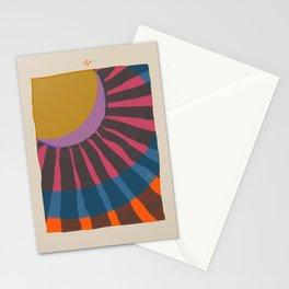 Sun Moon Rays Stationery Cards
