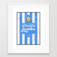 argentina Framed Art Prints featuring Argentina by liamhohoho