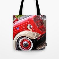 ford Tote Bags featuring Ford by Brandi Fitz Arts