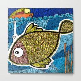 Big Fish Under the Sea Metal Print