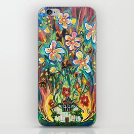 House in Bloom iPhone Skin