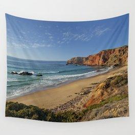 Amado beach, Portugal Wall Tapestry