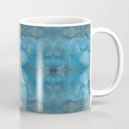 Shades of Blue Mirrored Watercolor Coffee Mug