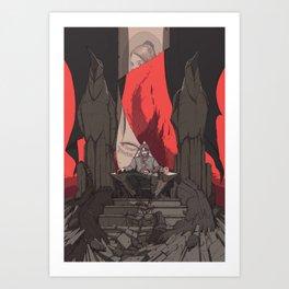 DH: Corvo the Black Art Print