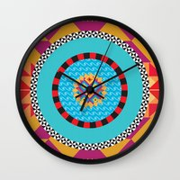 art deco Wall Clocks featuring Deco Art by MadTee