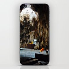 Monk in Cave Temple iPhone & iPod Skin