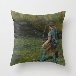 Fisherman's Paradise Throw Pillow
