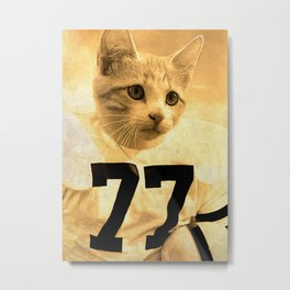 Baseball Kitten #1 Metal Print