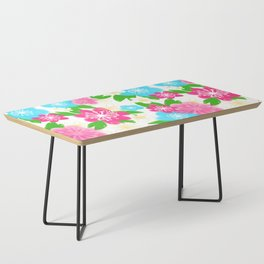04 Pattern of Watercolor Flowers Coffee Table