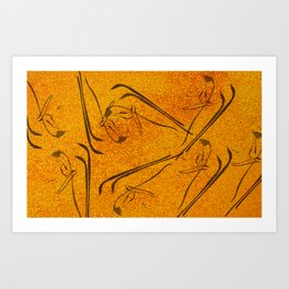 Abstract Nature on Grunge Art Print