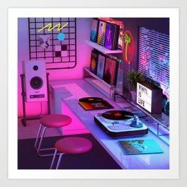Vinyl is Life Art Print