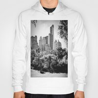central park Hoodies featuring Central Park by Petra Heitler