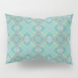 Blue green plaid . Pillow Sham