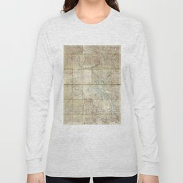 Map of Yellowstone National Park (1886) Long Sleeve T-shirt
