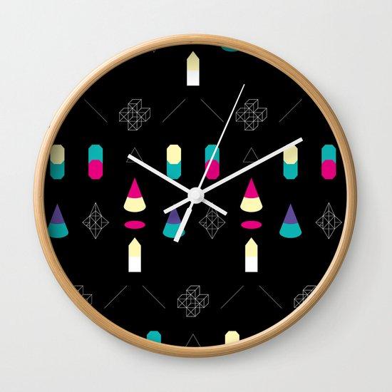 Play on Black Wall Clock